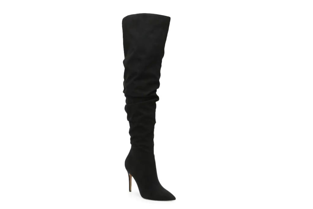 jessica simpson, over the knee boots, black boots