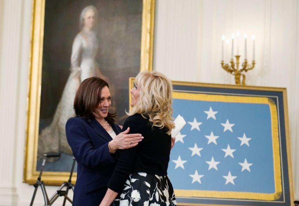 jill biden, heels, dress, dior, black, white, white house, medal of honor