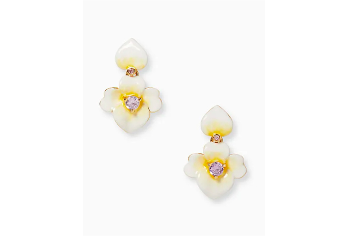 Kate Spade Precious Pansy Enamel Drop Earrings, kate spade surprise sale