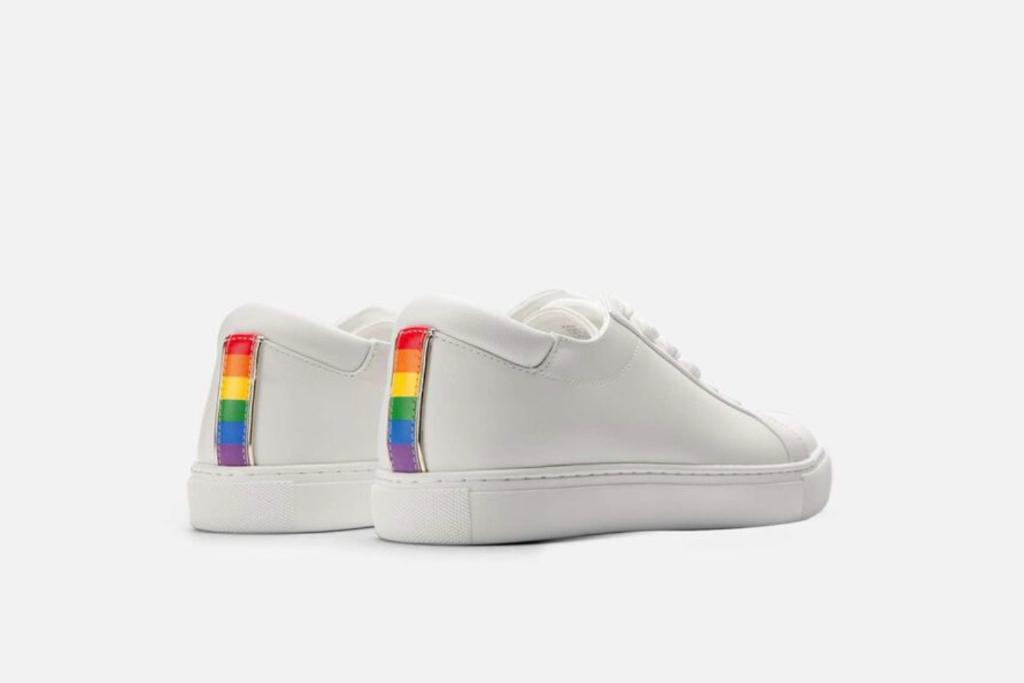 kenneth cole, kam pride sneakers, white sneakers