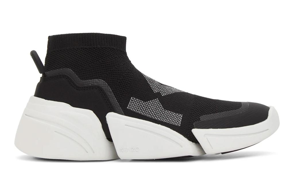 black sneakers, sock style, kenzo