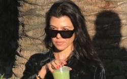 kourtney kardashian, cutout sweater, boyfriend-style shirt,