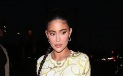 Kylie Jenner, pattern swirl dress, white