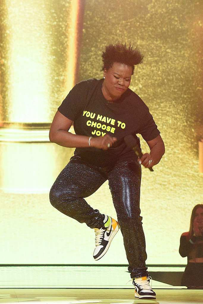 LOS ANGELES, CALIFORNIA - MAY 16: Host Leslie Jones speaks onstage during the 2021 MTV Movie & TV Awards at the Hollywood Palladium on May 16, 2021 in Los Angeles, California. (Photo by Kevin Mazur/2021 MTV Movie and TV Awards/Getty Images for MTV/ViacomCBS)