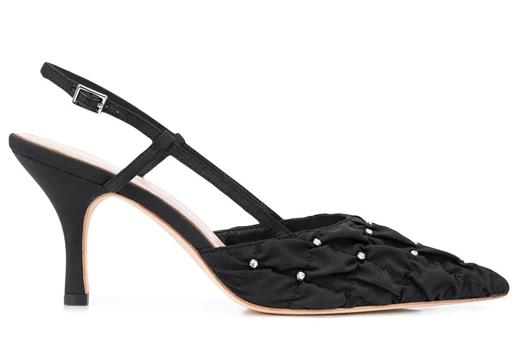black heels, pumps, loeffler randall