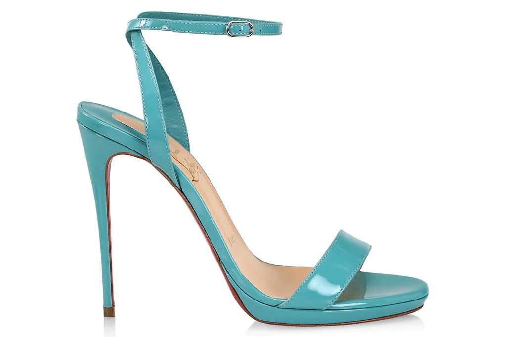 christian louboutin, heels, blue, sandals