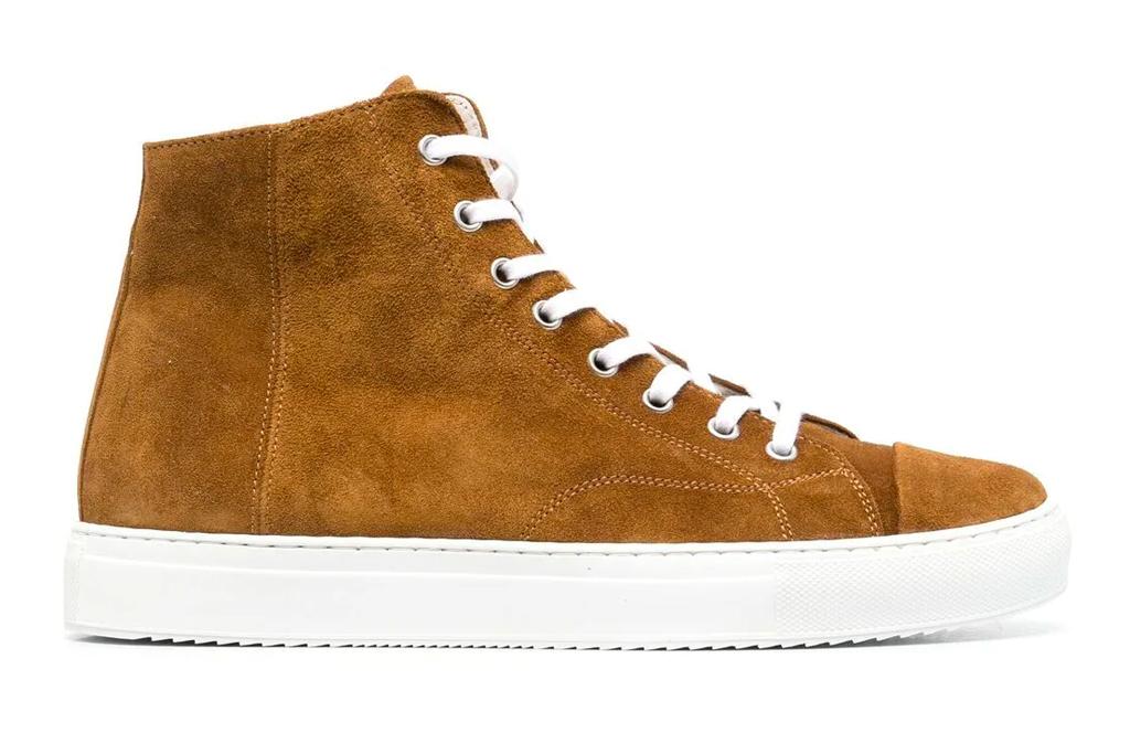brown suede sneakers, womens, low brand
