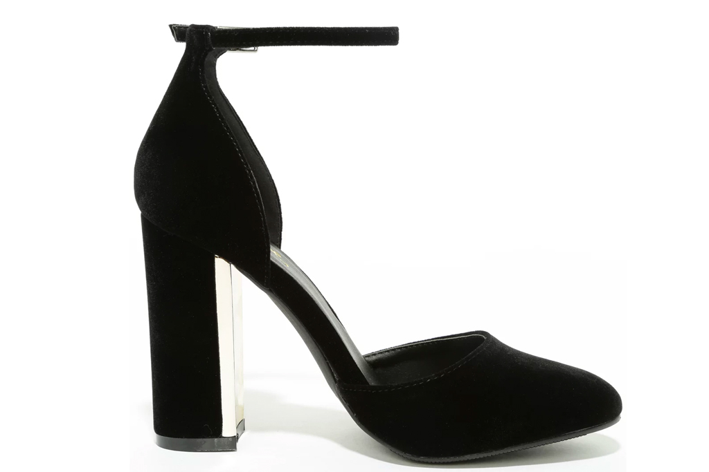 black heels, platforms