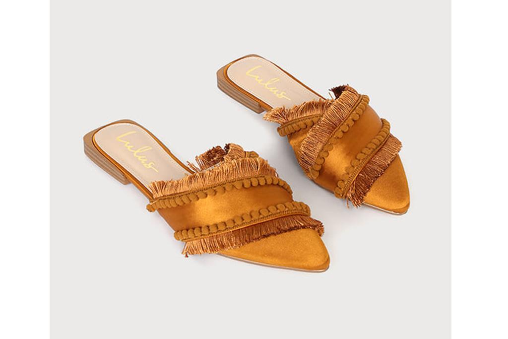 lulus pom pom mules, best office shoes