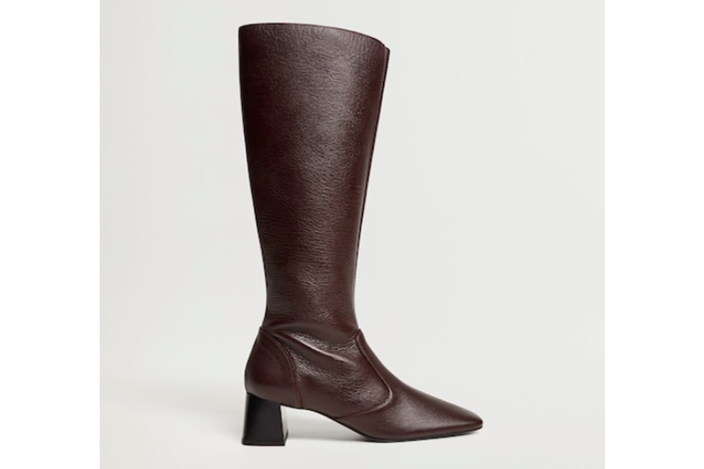 mango tall leather boots, best office shoes