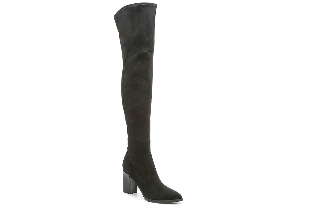 thigh-high boots, black, marc fisher