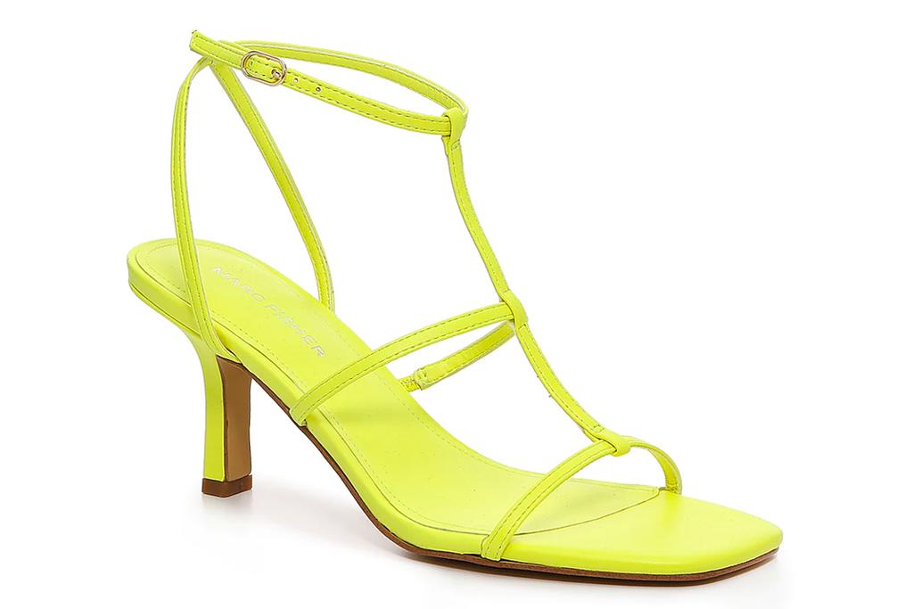 yellow heels, sandals, marc fisher