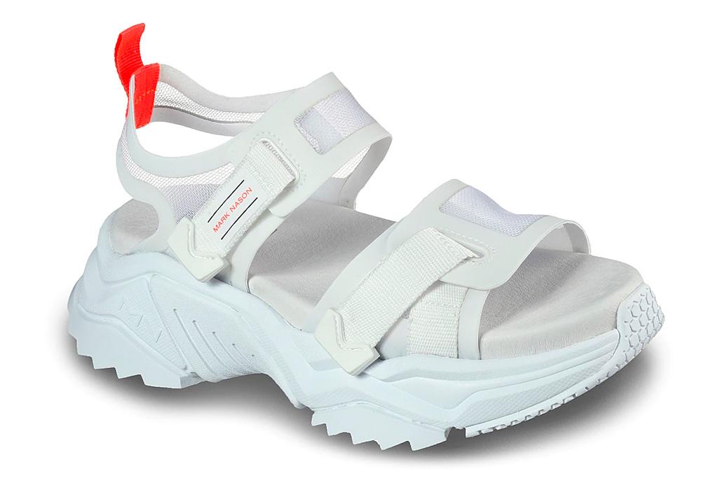chunky sandals, white, mark nason