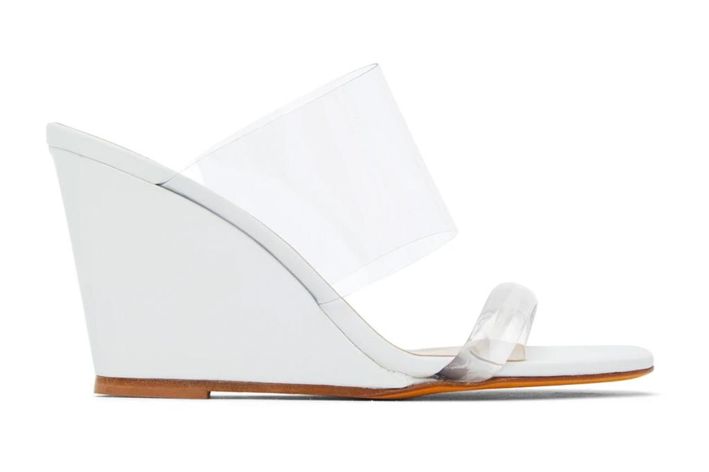 wedge heels, pvc, clear, maryam nassir zadeh
