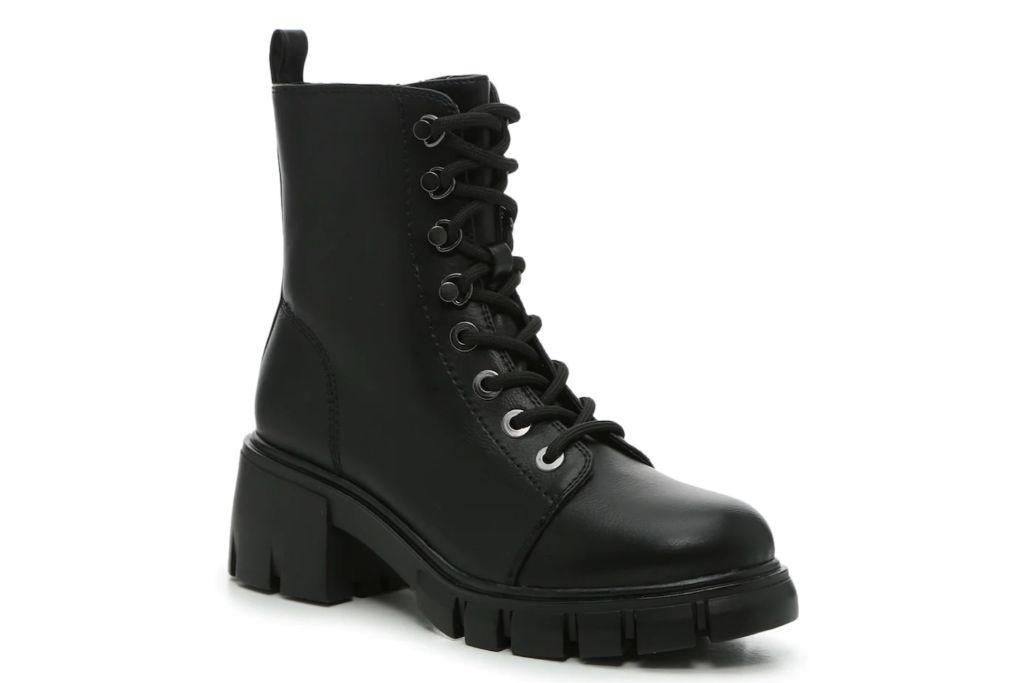 mia, mila combat boot, black boots