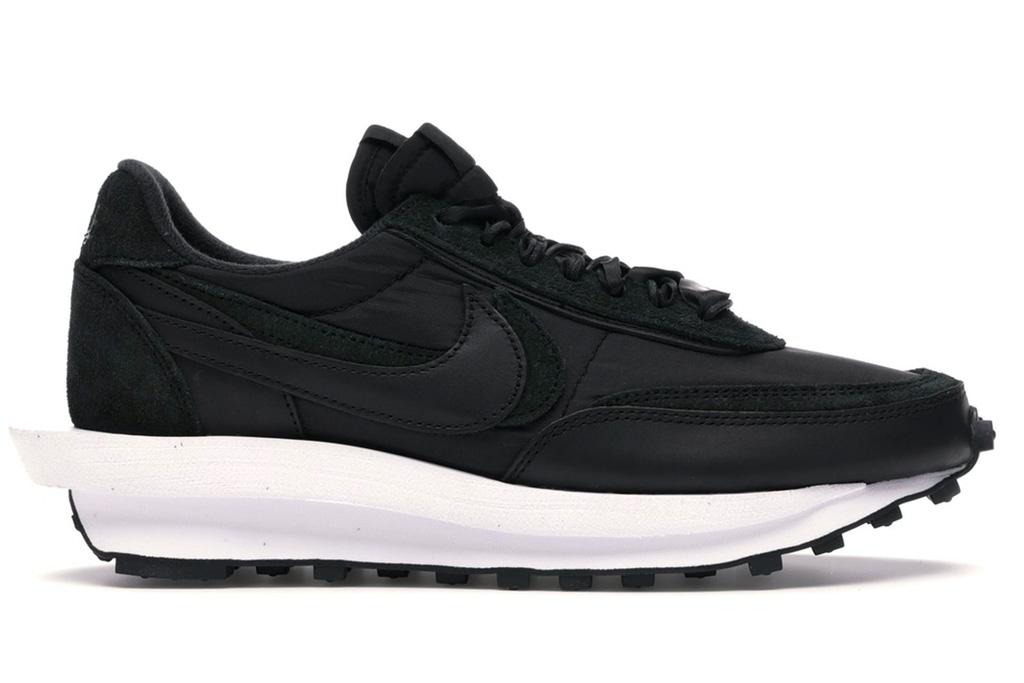 sacai, nike, waffle, sneakers, black