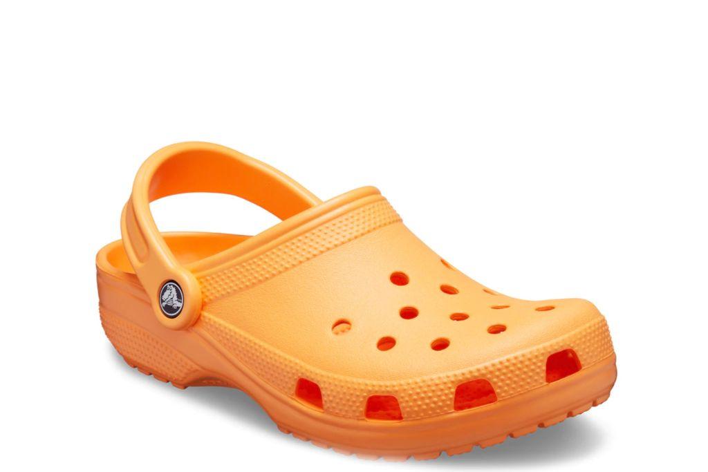 crocs, orange, clogs