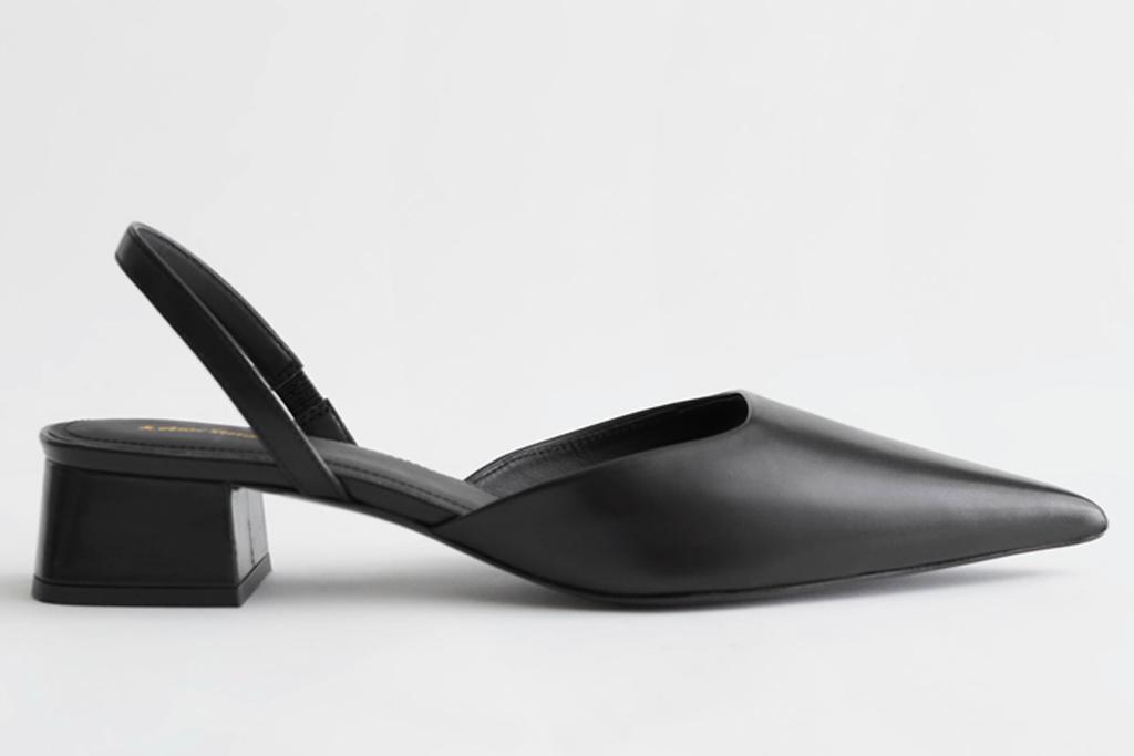 black heels, slingback, other stories