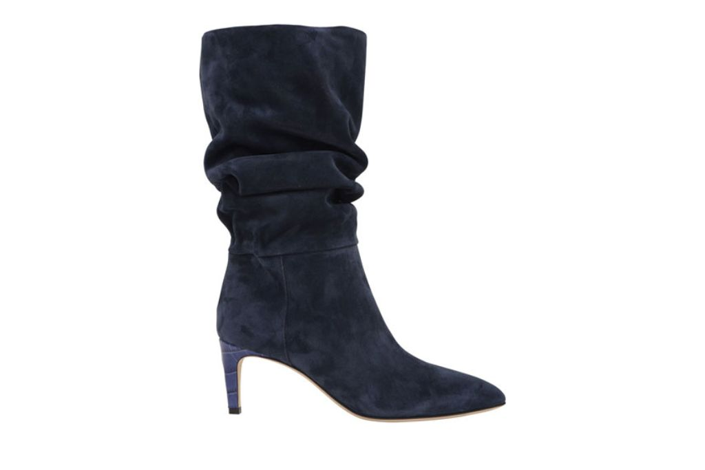 paris texas, slouchy suede boots, navy blue boots