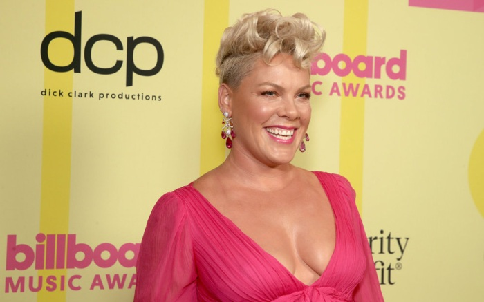 2021 BILLBOARD MUSIC AWARDS -- Pictured: In this image released on May 23, (l-r) P!NK arrives to the 2021 Billboard Music Awards held at the Microsoft Theater on May 23, 2021 in Los Angeles, California. --  (Photo by: Todd Williamson/NBC