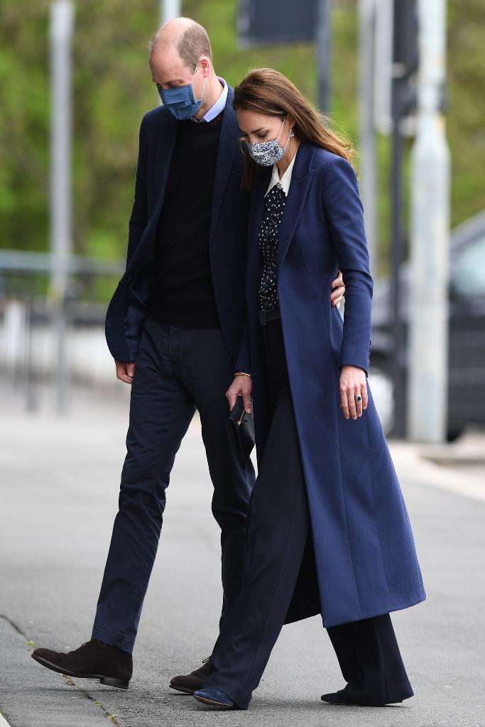 prince william, kate middleton, navy, black outfits, england