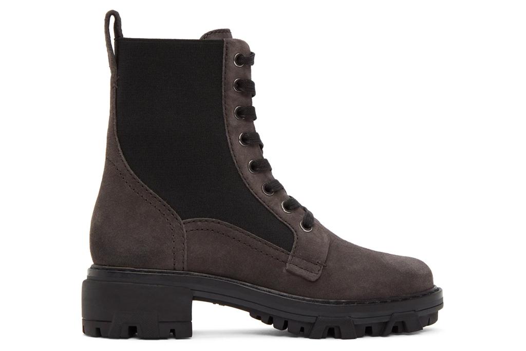 combat boots, brown suede, rag & bone