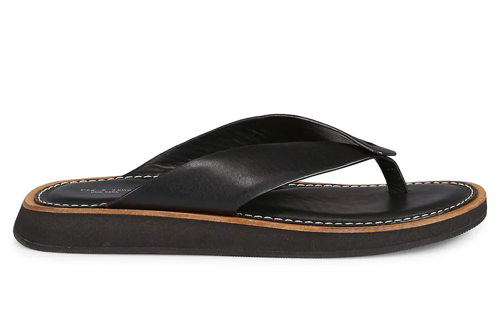 black sandals, thong sandals, rag & bone