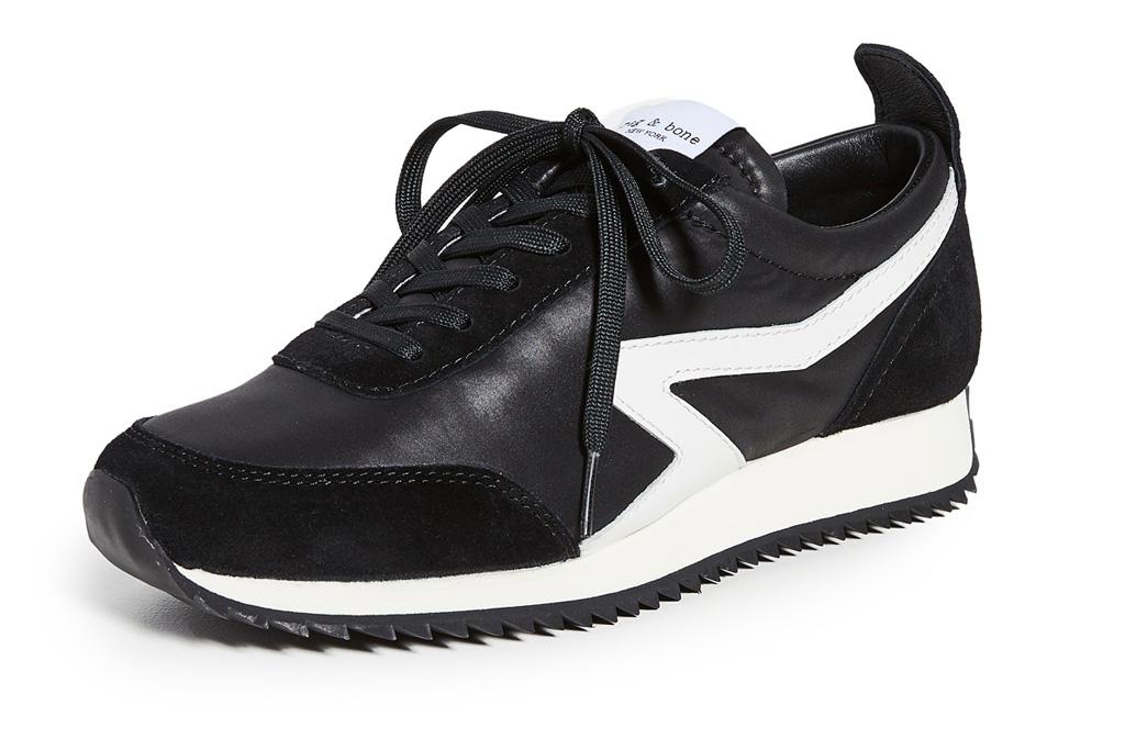 sneakers, black, white, nylon, rag & bone