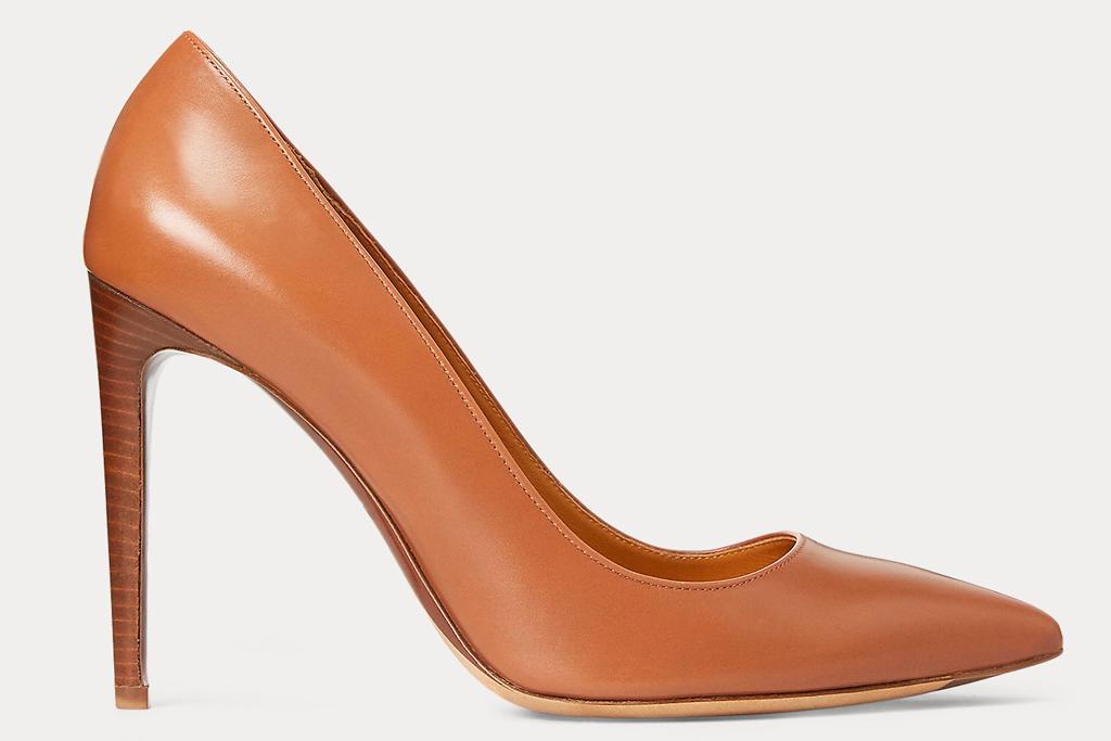ralph lauren, heels, brown, celia