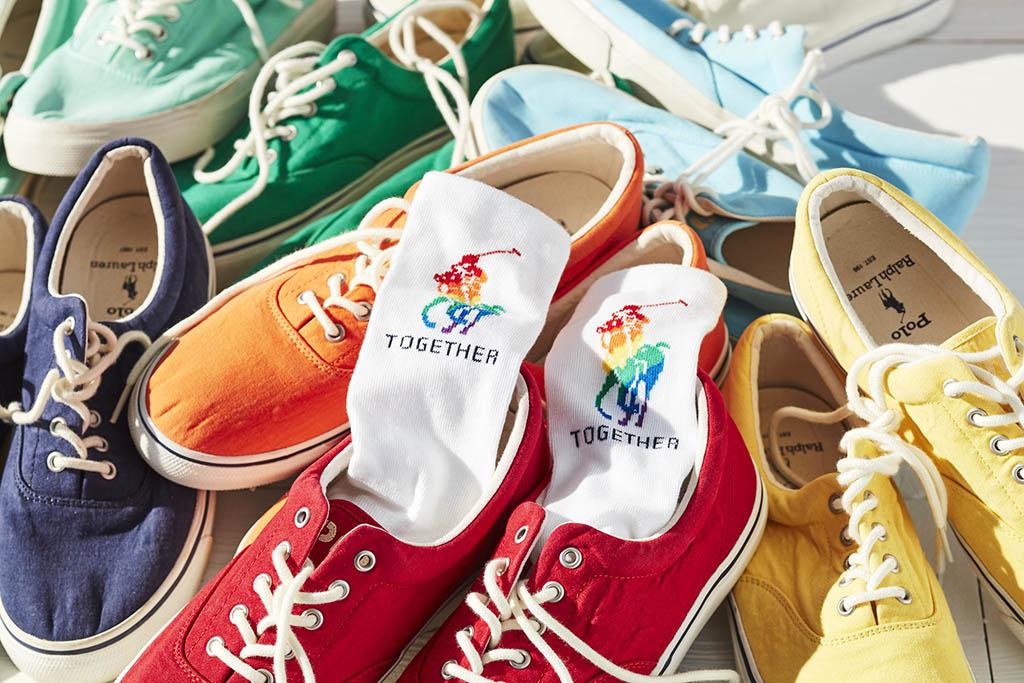 ralph lauren pride collection 2021, socks, sneakers