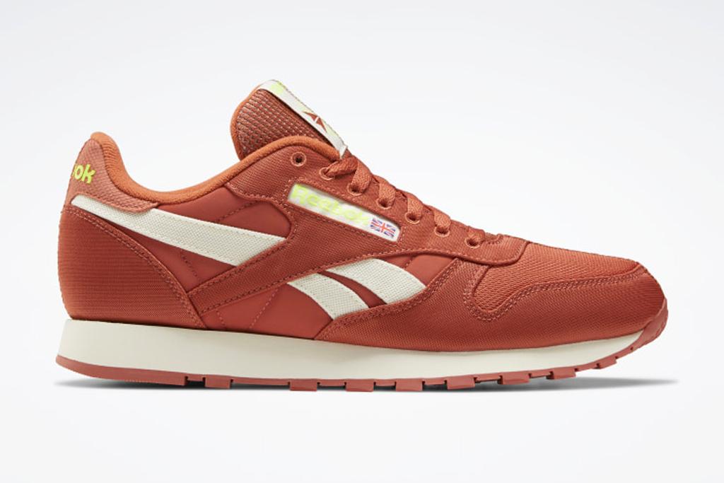 sneakers, brown leather, reebok