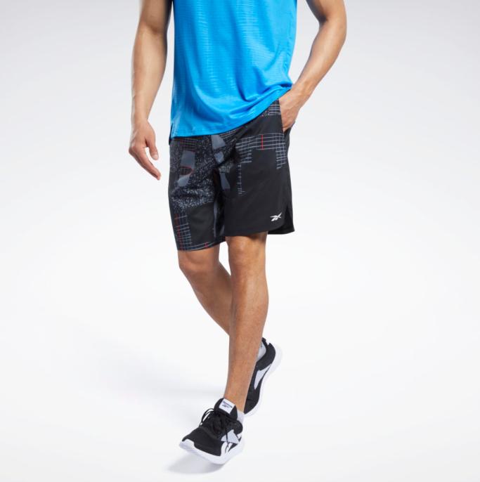 reebok, lightweight training shorts, reebok sale deals