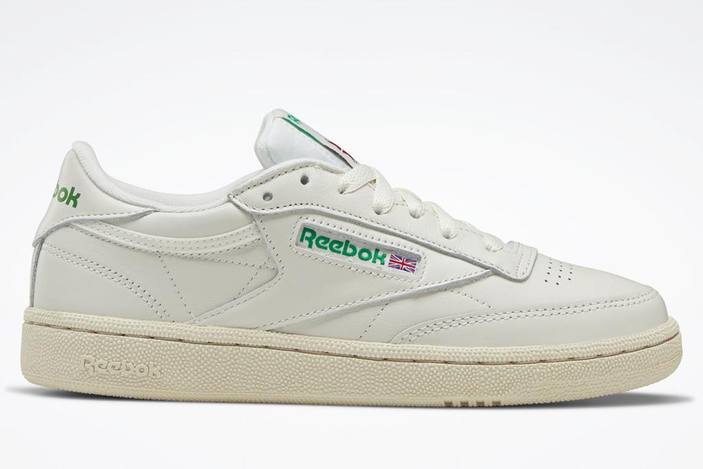 sneakers, green, white, reebok