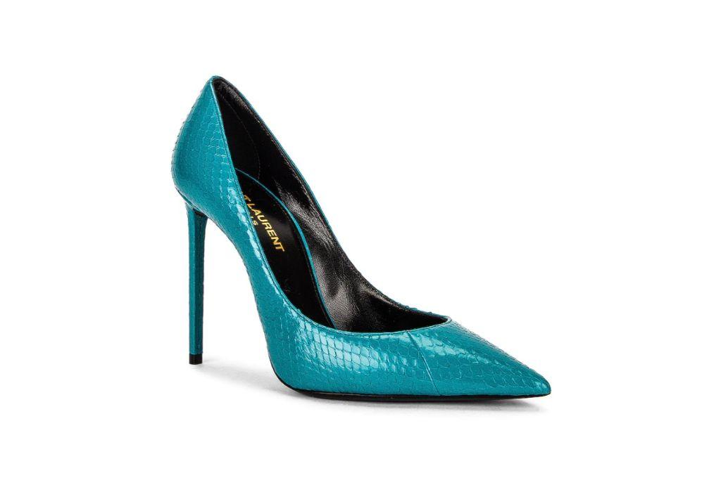 saint laurent, zoe pumps, turquoise heels