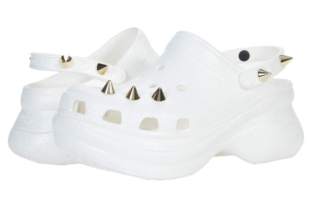 crocs, platform, clogs, stud