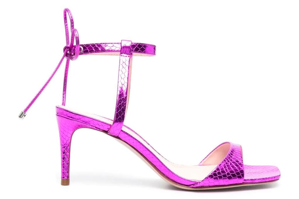 pink heels, metallic, schutz
