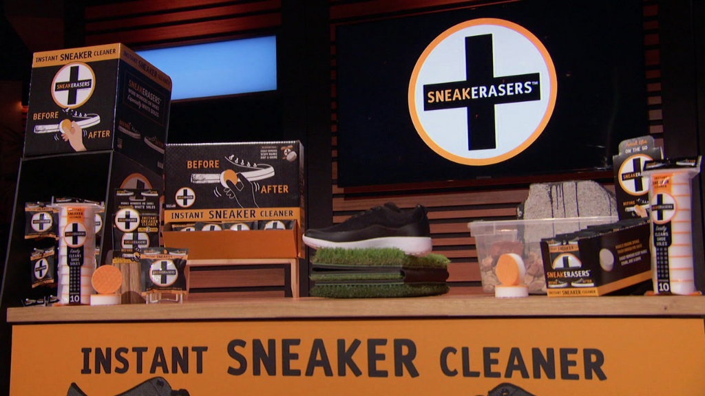 sneakERASERS, shark tank, shoe cleaning, products