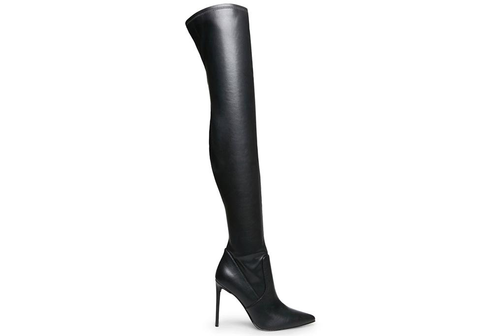 thigh-high boots, black, steve madden