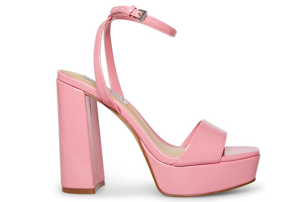 pink heels, platforms, steve madden