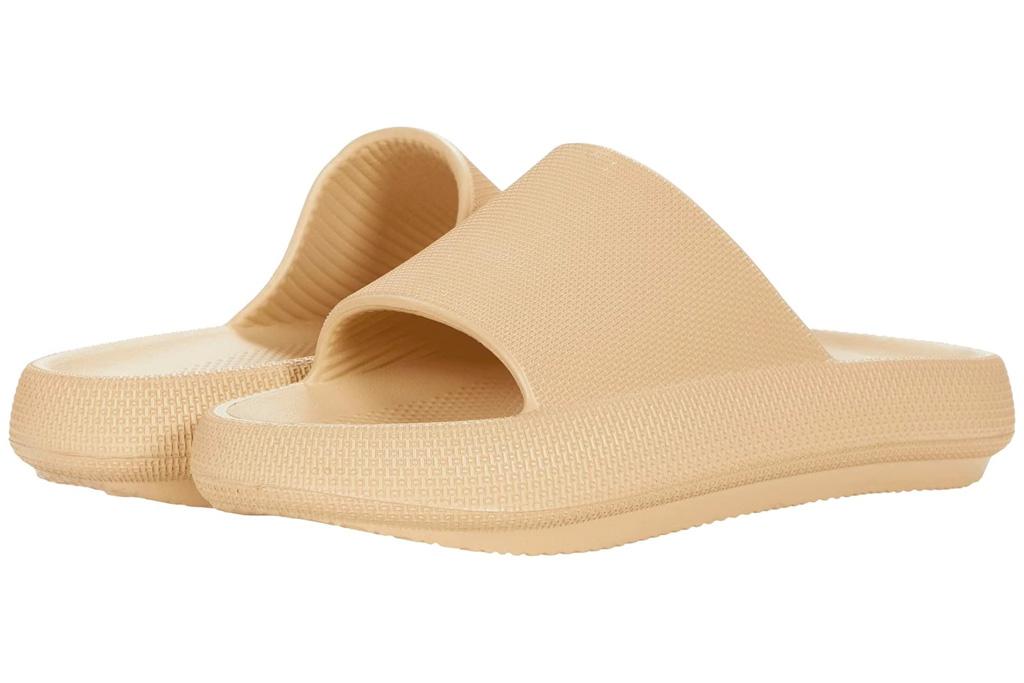 slides, brown, steve madden