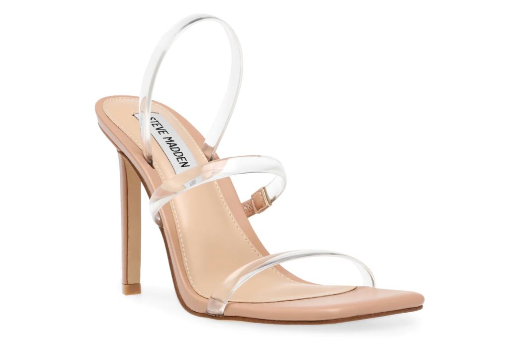 steve madden, gracey sandal, transparent heels