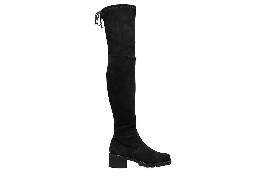 Stuart Weitzman, Flannery City Boot, Black Lug Boots
