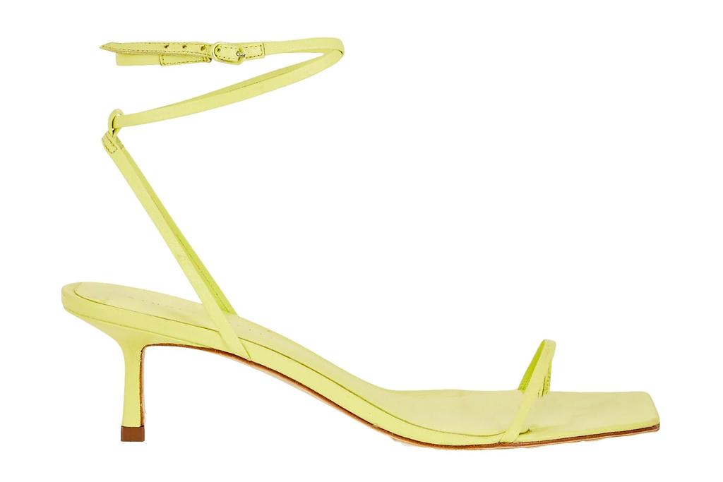 yellow heels, sandals, studio amelia