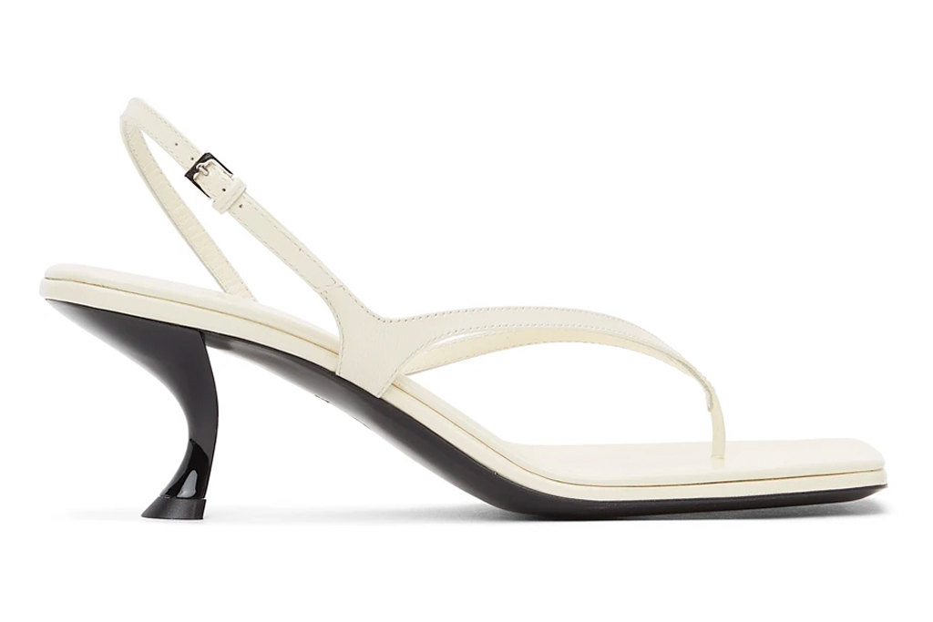 the row, heeled sandals, thong, toe
