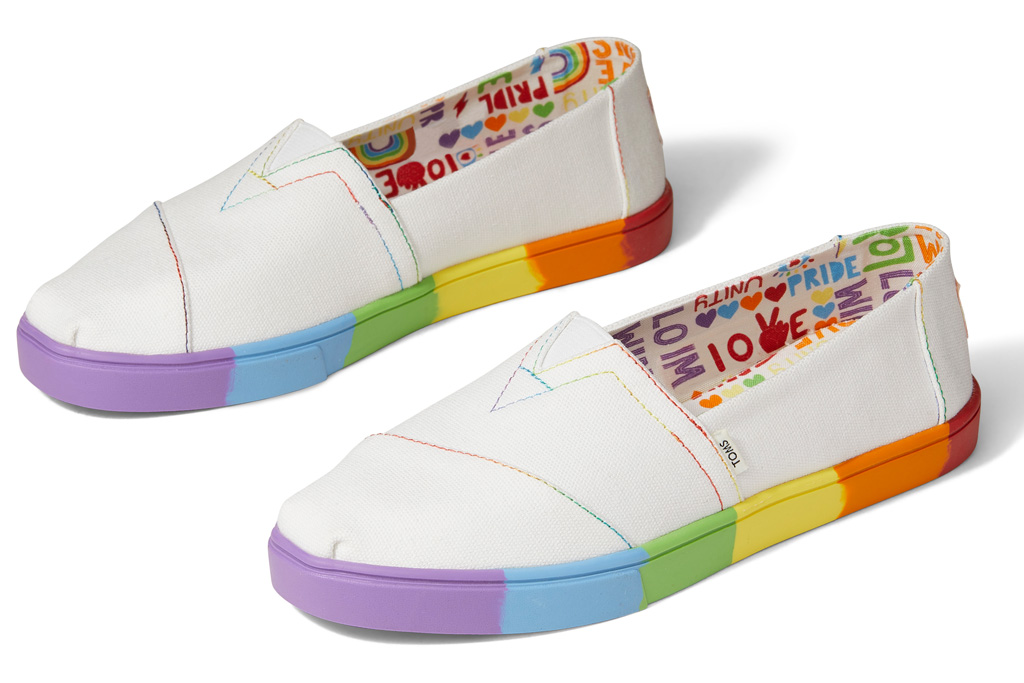 toms, sneakers, pride, unity, 2021, collection, rainbow, shoes