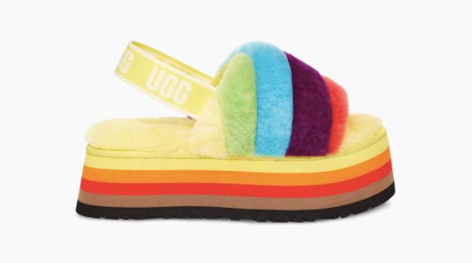 ugg-disco-stripe, ugg pride 2021 collection