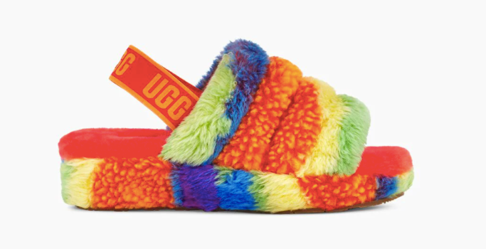 ugg fluff yeah cali collage pride, ugg pride 2021 collection