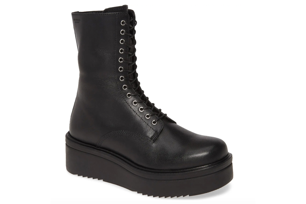 combat boots, platform, vagabond