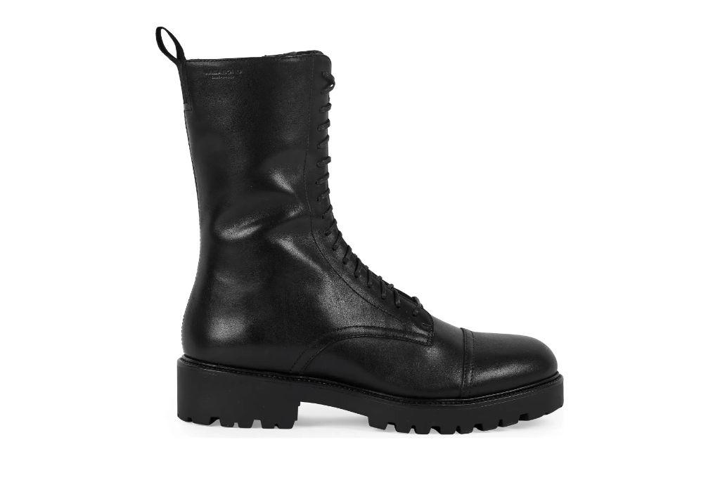 Vagabond Shoemakers, Kenova Combat Boot, Black Boots
