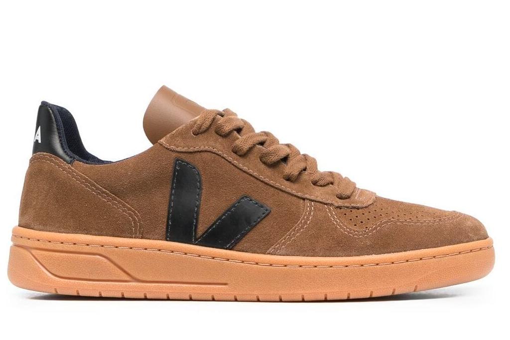 brown suede sneakers, womens, veja